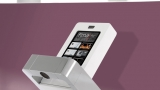 Mixer faucet with touch screen