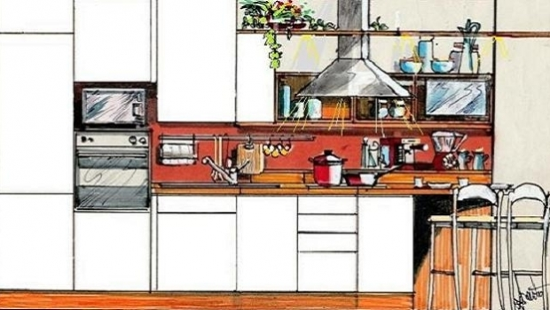 Kitchen with peninsula