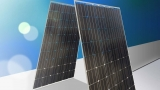 Photovoltaic panels on two sides