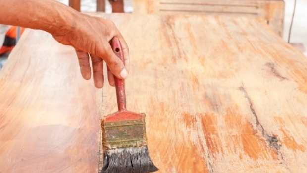 Wax finish on wood furniture