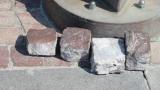 External cobblestone paving