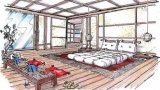Bedroom in oriental style: project idea