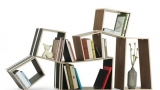 Different materials for bookcases