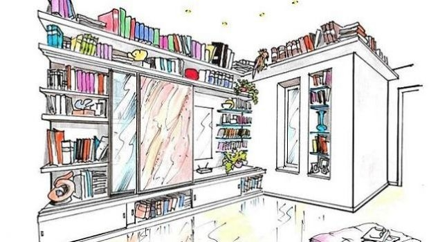 Bookcases: a project to dress space