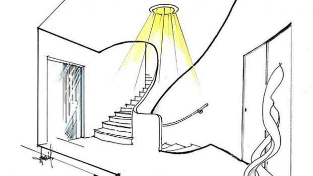 Solar tube illuminate entrance and stairs