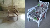 Recover old furniture with a touch of creativity