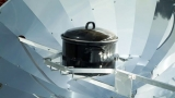 The solar oven for the garden or terrace