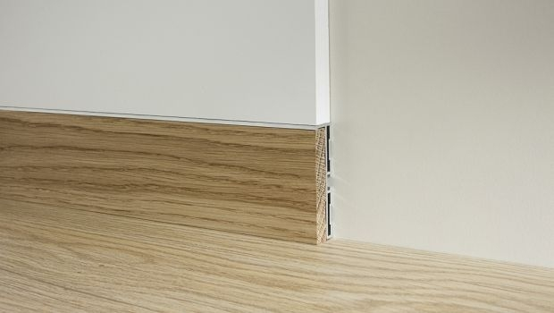 Flush to the wall baseboard for Flush with the wall