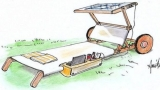 Sun bed: a project with solar panels