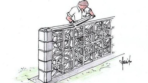 Fences in masonry cane mats: how to build one