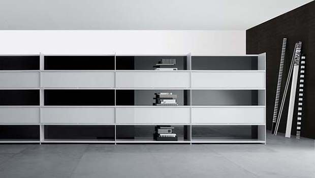 Modular bookcases and wardrobes