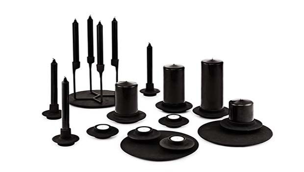 Candle holders in various materials