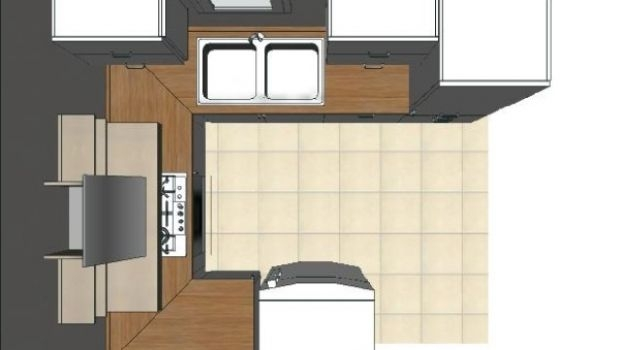 U-shaped kitchen: how to design it