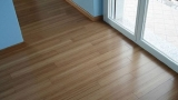 Bamboo parquet at home