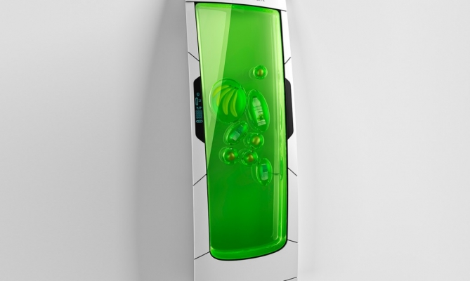 Bio robot refrigerator fridge that goes without current