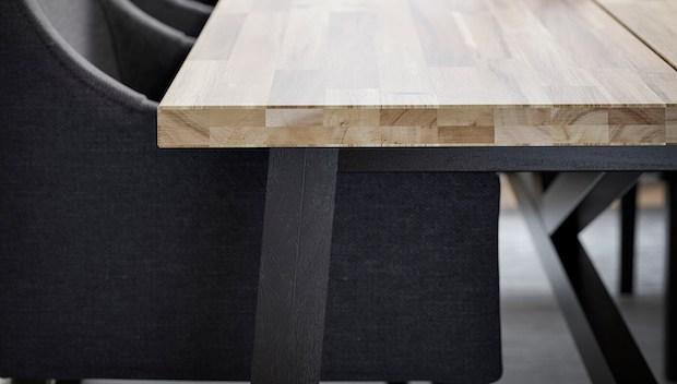 Skogsta wooden top table - Photo: Ikea