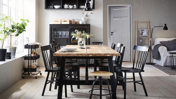 Skogsta wood design table - Photo: Ikea