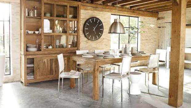 Stockholm extendable dining table - Photo: Maisons du Monde
