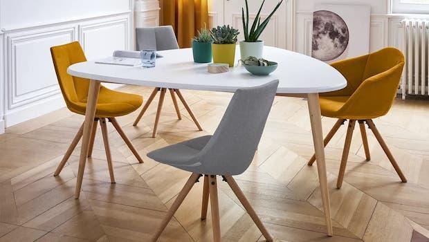 Jimi design white table - Photo: La Redoute Interieurs