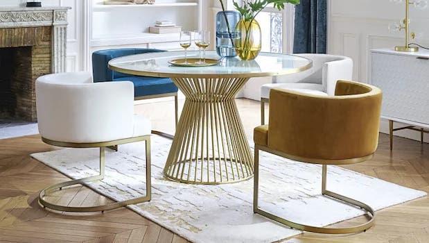 Design glass tables: Riverside fixed model - Photo: Maisons du Monde