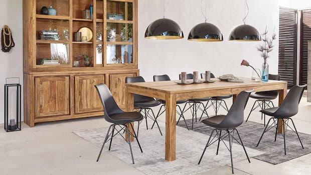 Stockholm, Sheesham wood extendable table - Photo: Maisons du Monde