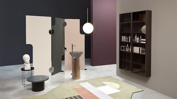 Albume lavabo metallo freestanding Antonio Lupi design