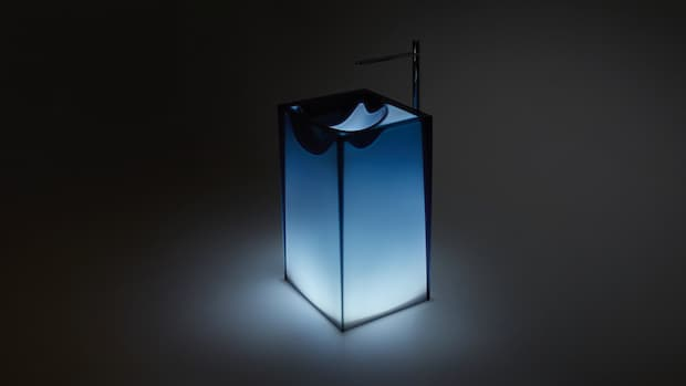 Astro lavabo freestanding Antonio Lupi design