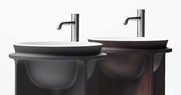 Dettaglio lavabo freestanding Controstampo WA7 Falper