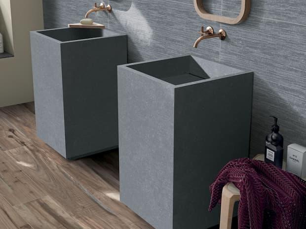 Lavabo a colonna grigio pietra Abk design