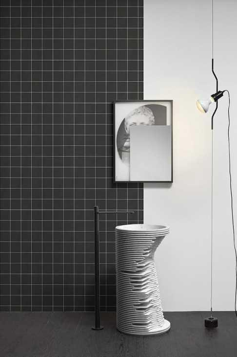 Lavabo freestanding tralerighe Antonio Lupi design