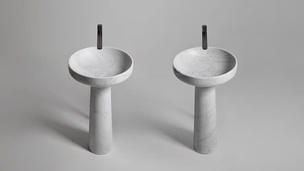 Lavabo in pietra freestanding Antonio Lupi design