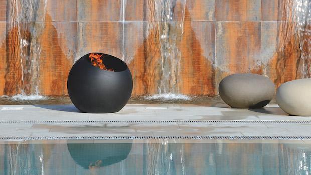 Camini esterni contemporanei, modello Bubble - Foto: Focus