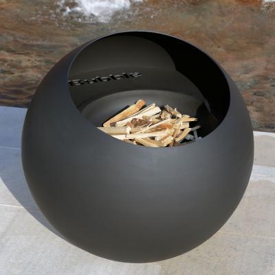 Bubble-outdoor-fireplace-matt-black-finish-photo-focus