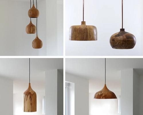Wooden-dome-pendants-chandeliers-by-tamasine-osher