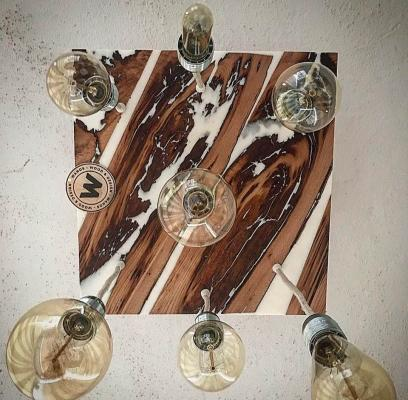 Chandelier-in-chestnut-wood-and-white-resin-by-wanos