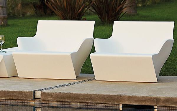 Slide outdoor armchairs by Kami San, by Sediarreda