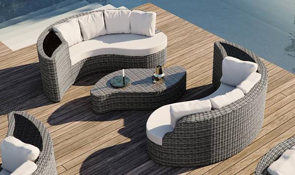 Yamelia outdoor lounge by Artelia