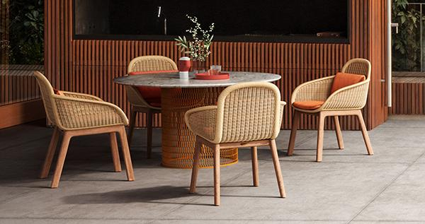 Colonial style garden lounge Vimini by Kettal