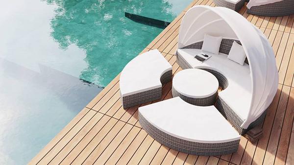 Hummel garden-solarium lounge by Artelia