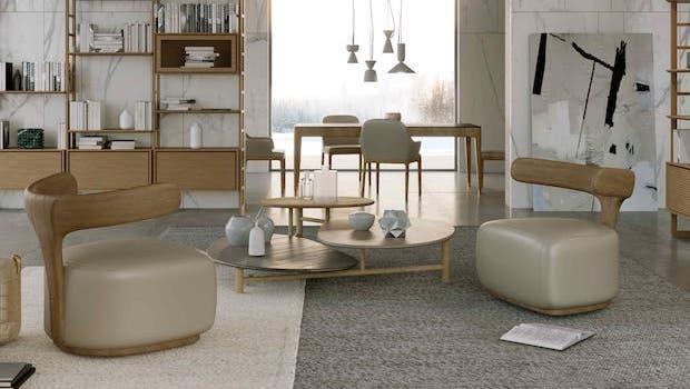 Soggiorno classico contemporaneo: tavolino Layer - Foto: Morelato