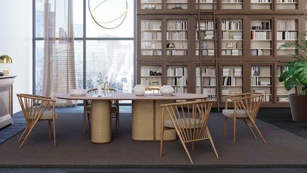 Salotto contemporaneo: tavolo Colonial - Foto: Morelato