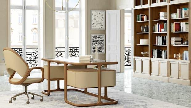 Arredamento in stile contemporaneo, scrivania Isabel - Foto: Morelato