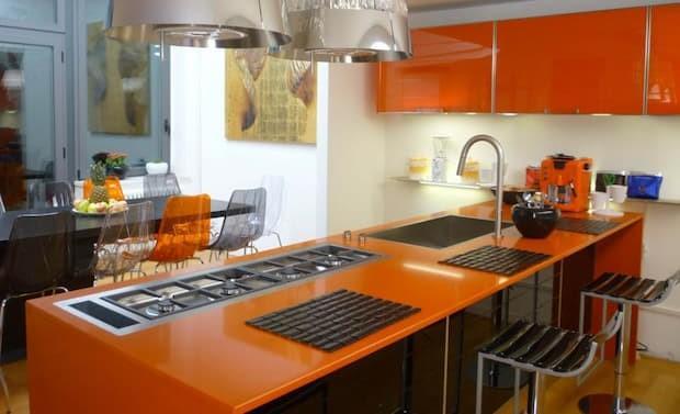 Orange kitchen, Lucy orange model by Lube
