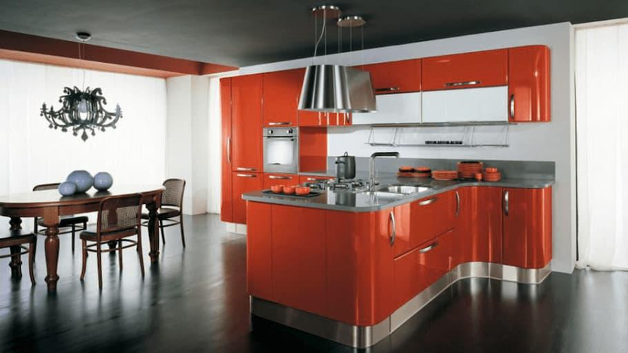 Kitchen-in-color-orange-creo-and-lube-solution