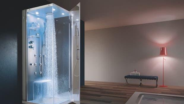 Tempo equipped shower cabin - Photo: Geromin