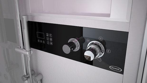 Jacuzzi Frame 100 hydromassage shower enclosure, control panel - Photo: Jacuzzi