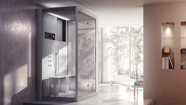 Frame IN2 hydromassage shower enclosure - Photo: Jacuzzi