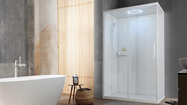 K1000 hydromassage shower enclosure - Photo: Kinedo