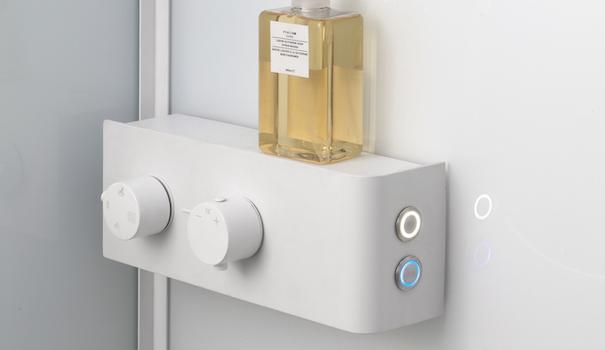 K1000 hydromassage shower enclosure, control panel - Photo: Kinedo